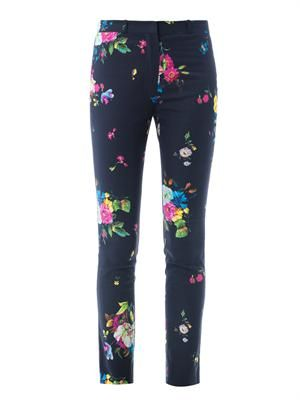 Melinda Dauphine night floral-print trousers