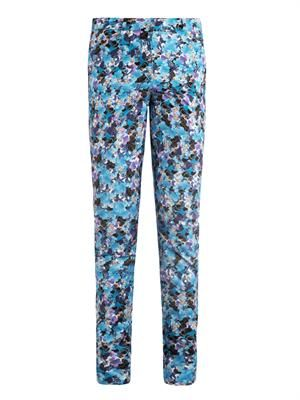Esmeralda Kabuki sky-print trousers
