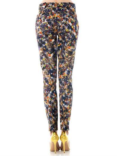 Erdem Esmeralda Narcisse flower-print trousers
