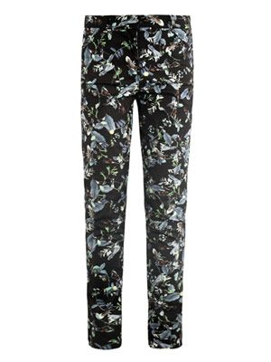 Esmeralda rainforest reflections-print trousers