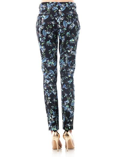 Erdem Esmeralda rainforest reflections-print trousers