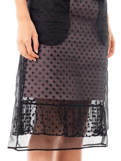 Erdem Hania dotted tulle skirt