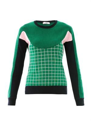 Tracy Ski Tuileries multi-panel sweater