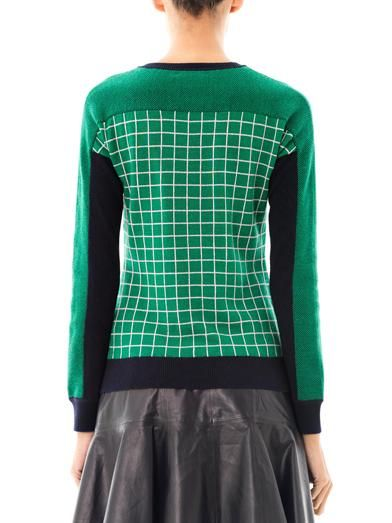 Erdem Tracy Ski Tuileries multi-panel sweater