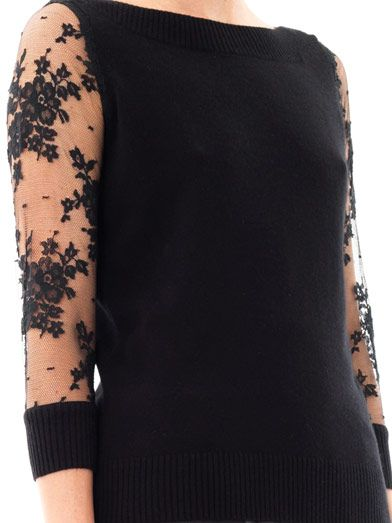 Erdem Rose silk-cashmere sweater