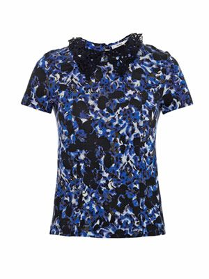 Karina Venice lace-collar T-shirt