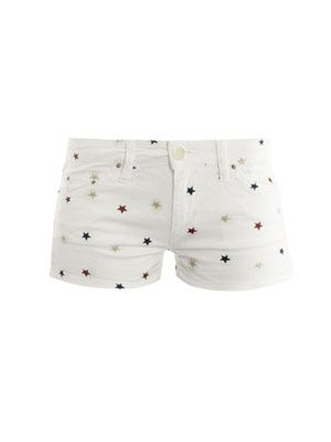 Dinky embroidered-star shorts