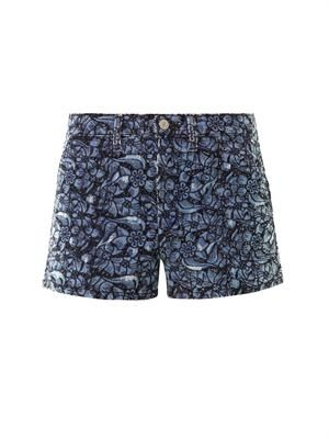 Makya embroidered shorts