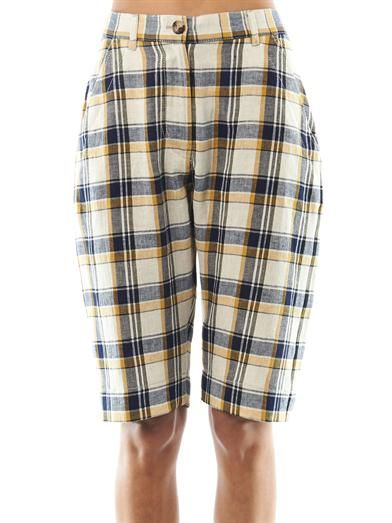 Isabel Marant Étoile Uriel check Bermuda shorts
