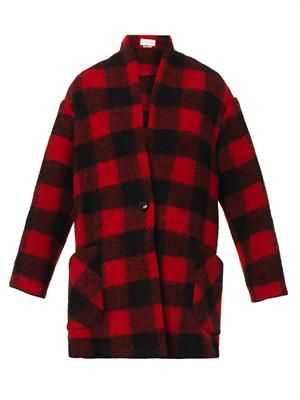 Gabrie check wool-blend coat