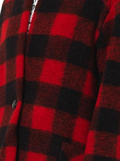 Isabel Marant Étoile Gabrie check wool-blend coat