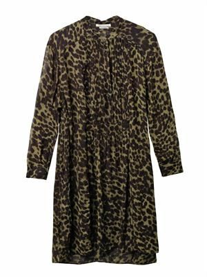Cray animal-print chiffon dress