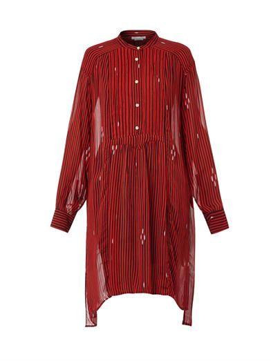 Isabel Marant Étoile Cray stripe-print chiffon dress