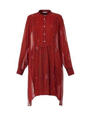 Cray stripe-print chiffon dress