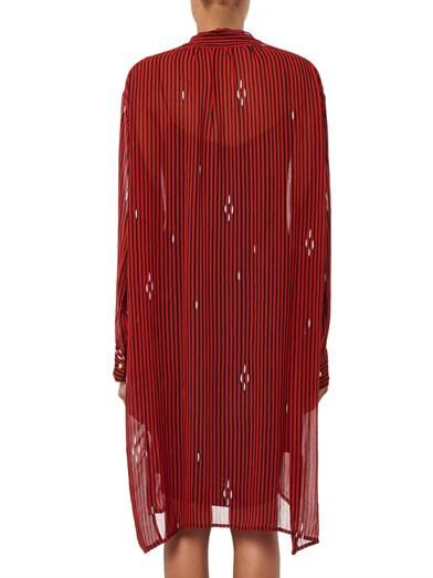 Isabel Marant Étoile Cray stripe-print chiffon dress