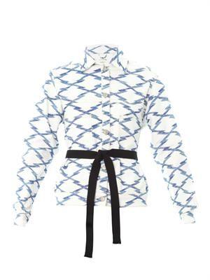Nadia ikat tie-belt jacket