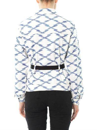 Isabel Marant Étoile Nadia ikat tie-belt jacket
