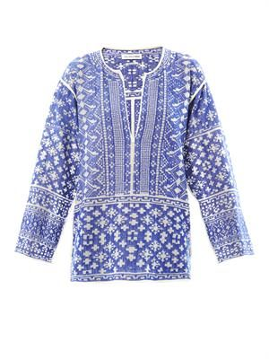 Barber embroidered cotton tunic