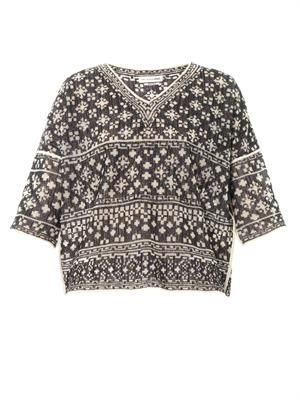 Bela mosaic knit top