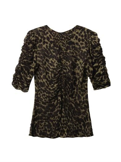 Isabel Marant Étoile Caja animal-print blouse