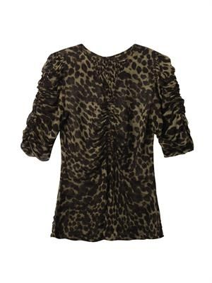 Caja animal-print blouse