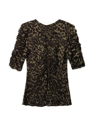 Caja animal-print blouse