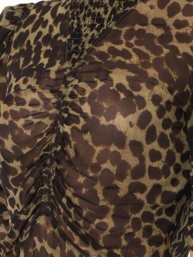 Isabel Marant Étoile Caja animal-print blouse