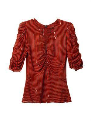 Caja stripe-print blouse