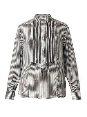 Charley striped chiffon shirt