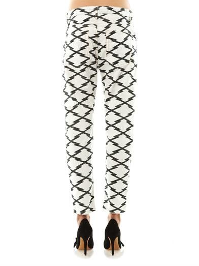 Isabel Marant Étoile Ikat printed high rise boyfriend jeans