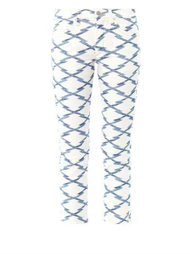 Isabel Marant Étoile Nessa Ikat-print cropped jeans