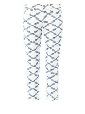 Nessa Ikat-print cropped jeans