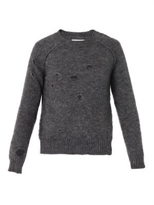 Rain distressed sweater