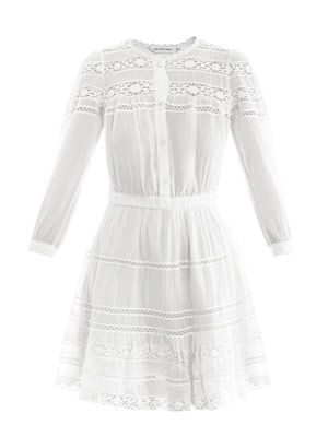 Greta cotton-voile and lace dress