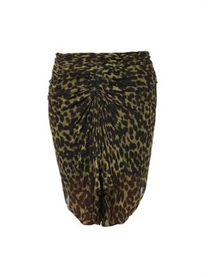 Coleen animal-print ruched skirt