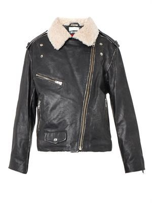 Benny shearling-collar leather jacket