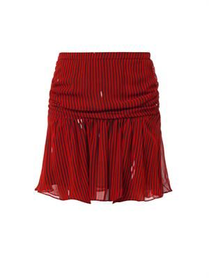 Cary striped chiffon mini skirt