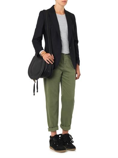 Isabel Marant Étoile Wona high-rise relaxed trousers