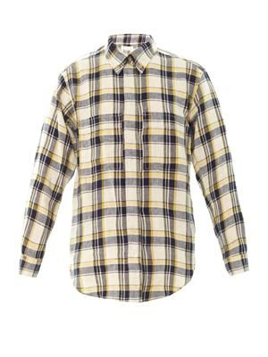 Upton flannel check boyfriend shirt
