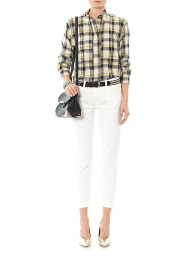 Isabel Marant Étoile Upton flannel check boyfriend shirt
