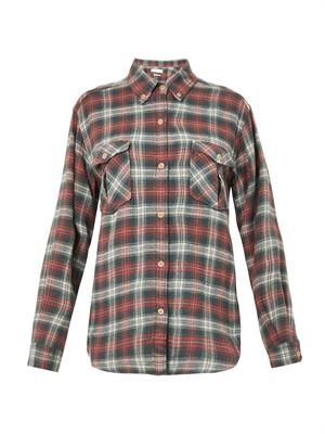 Vadisse checked flannel shirt