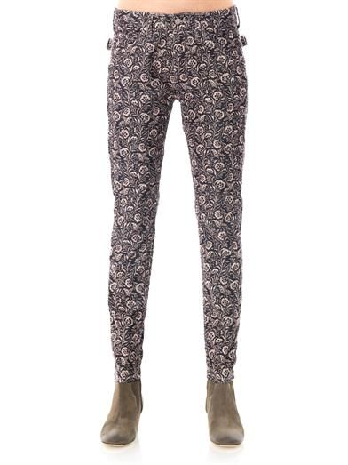 Isabel Marant Étoile Iceo floral mid-rise skinny corduroy jeans