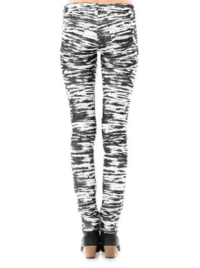 Isabel Marant Étoile Tiger-print mid-rise skinny corduroy jeans