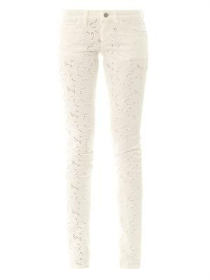 Mael embroidered low-rise skinny jeans