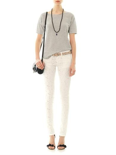 Isabel Marant Étoile Mael embroidered low-rise skinny jeans