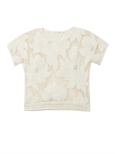 Isabel Marant Étoile Calice embroidered mesh sweatshirt