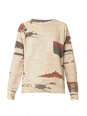 Hana carpet-print sweatshirt