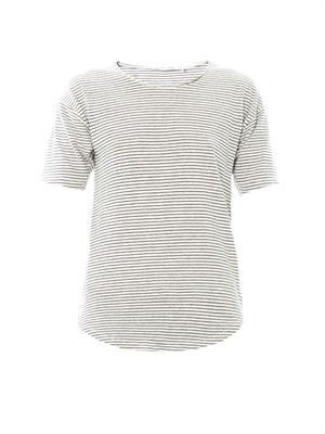 Faxon striped linen T-shirt