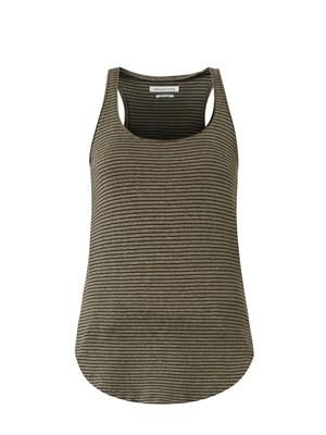 Ivor striped racer-back tank top