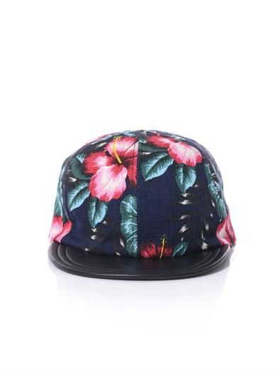 Eugenia Kim Darlen floral print leather peak cap